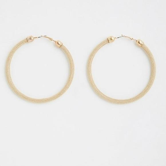 82e14e145 torrid Jewelry | Nwt Large Gold Mesh Hoop Earrings | Poshmark